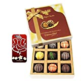 Chocholik Belgium Chocolates - 9pc Heavenly Treat Of Truffles With With 3d Mobile Cover For IPhone 6 - Diwali...