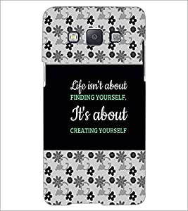 PrintDhaba Quote D-4668 Back Case Cover for SAMSUNG GALAXY A5 (Multi-Coloured)