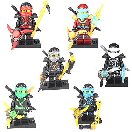 [Ninjago Ninja Jay Cole Lloyd Kai Nya Zane 6 Minifigures Building Bricks Toy LEGO] (Dance Costumes Supplies Sydney)