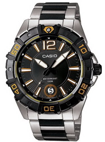 Casio Men'S Mtd1070D-1A2V Black Resin Quartz Watch With Black Dial