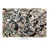 (24x36) Jackson Pollock (Silver on Black) Art Poster Print