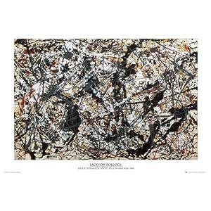 (24x36) Jackson Pollock (Silver on Black) Art Poster Print