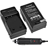Sony Cybershot DSC-H10, DSC-H50, DSC-W120 - Replacement Battery Charger (Incl. Car Plug Adapter)