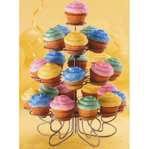 Wilton 307-250 Cupcakes `n More 24-Count 4-Tier Mini Dessert Stand