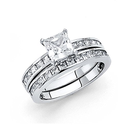 925-Sterling-Silver-Rhodium-Plated-Engagement-Ring-and-Wedding-Band-2-Piece-Set