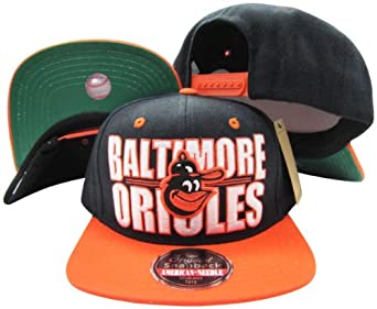Baltimore Orioles Block Two Tone Plastic Snapback Adjustable Plastic Snap Back Hat... by American Needle