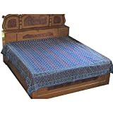 Bedsheet Cotton Indian Handmade Dabu or Wood Block Print Queen Sizeby DakshCraft