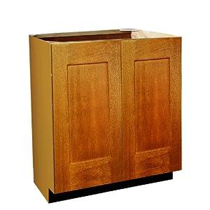 Shaker Panel Door Style Vanity Sink Base With Full Height Doors 30 Wide 18 Deep 30 High In A