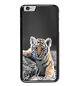 Fuson Premium 2D Back Case Cover Cute tiger With Brown Background Degined For Apple iPhone 6 Plus