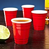 Red Mini Party Cup Shot Glasses Pack of 60