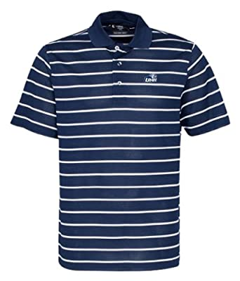 NCAA Men's New Hampshire Wildcats Feed Stripe Polo (Classic Navy/White, XXX-Large)