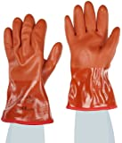 """Showa Best 460 Atlas Vinylove Fully-Coated Double-Dipped PVC Glove, Insulated Seamless Yellow Acrylic Liner, Chemical Resistant, 12"""" Length"""