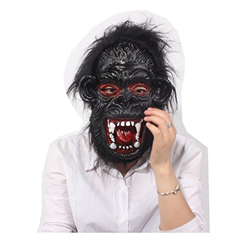 Halloween Carnival Party Costume Cosplay Ape Man Monster Horror Scary Full Face Mask