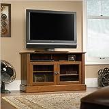 Sauder Carson Shape Panel TV Stand, Washington Cherry Finish
