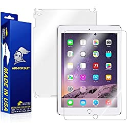 ArmorSuit MilitaryShield - Apple iPad Air 2 Wifi Screen Protector + Full Body Skin Protector / Front + Back Anti-Bubble Ultra HD - Extreme Clarity & Touch Responsive Shield with Lifetime Free Replacements