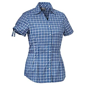 Jack Wolfskin Women's Farlane Shirt Blouse - Classic Blue Checks, X-Small