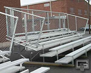 21 Fixed Stationary Bleachers With Double Foot Planks 5 Row from Gared Sports