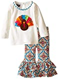 Mud Pie Baby-Girls Newborn Turkey Tunic and Legging Set, Multi, 9-12 Months