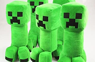 Minecraft Creeper Character Plush Soft Toy Stuffed Animal Doll Green Monster 11 by Happy Toys