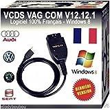 CABLE+LOGICIEL DIAGNOSTIC 12.12.1 ODBII HEX CAN VAG COM VCDS VW/AUDI/SEAT