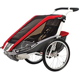 Chariot Cougar 1 Stroller with Single Carrier, Red