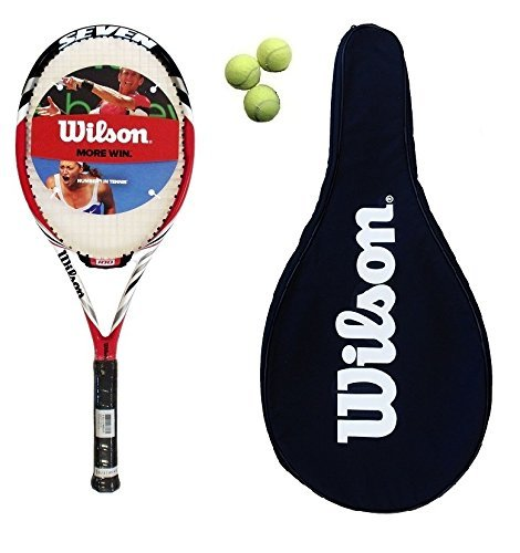 Wilson Seven Red tennis Racchetta + Cover + Balls L3