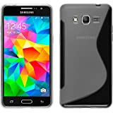 Coque en Silicone pour Samsung Galaxy Grand Prime - S-Style transparent - Cover PhoneNatic Cubierta + films de protection