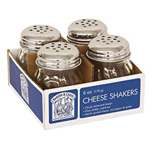 Bakers & Chefs Cheese Shakers - 6 Oz. - 4 Ct. by Bakers & Chefs