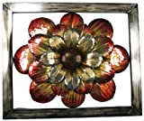 River Cottage Gardens J10146-UPS Metal Construction Orange Flower Wall Plaque