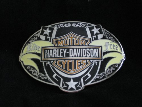 Harley Davidson Ride Free Enameled Belt Buckle