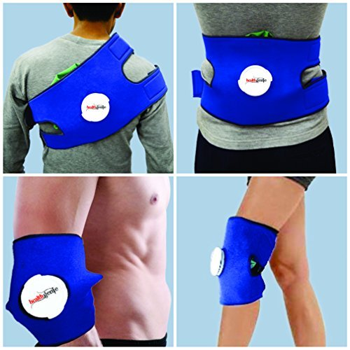 Healthgenie Knee Pain Relief Hot and Cold Pack with Ice bag & Belt. Multipurpose usage: Knee/ Back/ Elbow/ Shoulder.