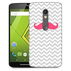 Snoogg Wave Mustache Designer Protective Phone Back Case Cover For Moto G 3rd Generation