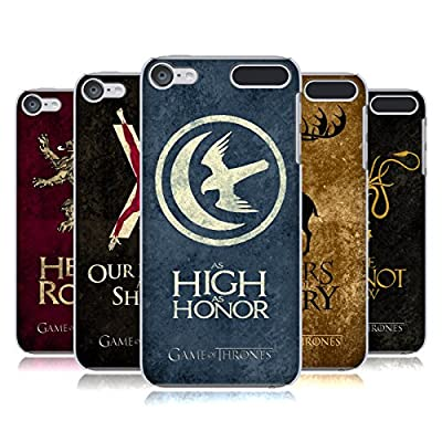 Official HBO Game Of Thrones Dark Distressed Sigils Hard Back Case for Apple iPod Touch MP3