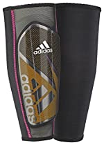 adidas Performance Ghost Pro Shin Guard, Solar Gold/Black/Shock Pink, X-Small
