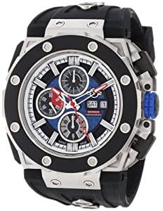 Gv2 Corsaro Men's Automatic Watch with Blue Dial Analogue Display and Black Rubber Strap 8802