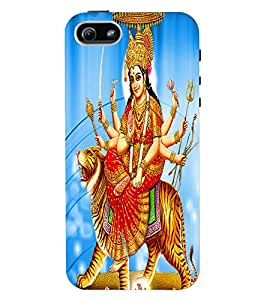 Fuson 3D Printed Lord Durga Designer Back Case Cover for Apple iPhone 5 - D510