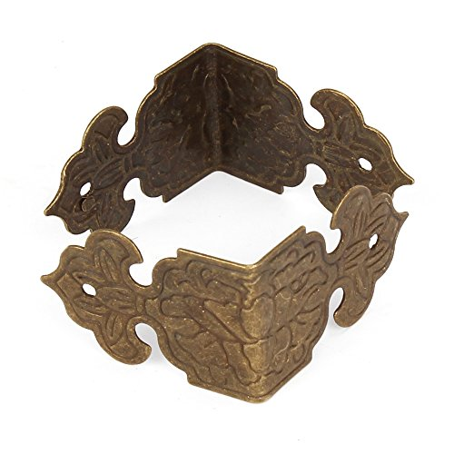 BQLZR Bronze Vintage Guards Desk Edge Box Corner Cover Protectors Antique Pack Of 20 4