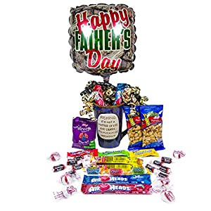 Happy Father's Day Mug, Candy, and Balloon Giftset Bundle. For The Dad Born To Fish.