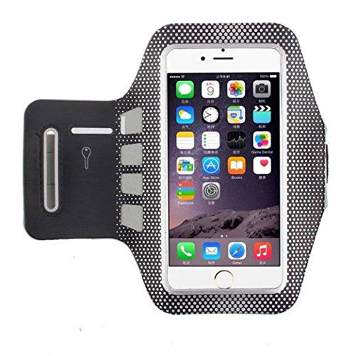 Tenworld Polka Dot Neoprene Sports Gym Armband Arm Band Case Cover for iPhone 7 4.7 Inch/iPhone 7 Plus 5.5 Inch (For iPhone 7 Plus 5.5