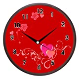 Wall Clocks - Printland Red Heart Wall Clock