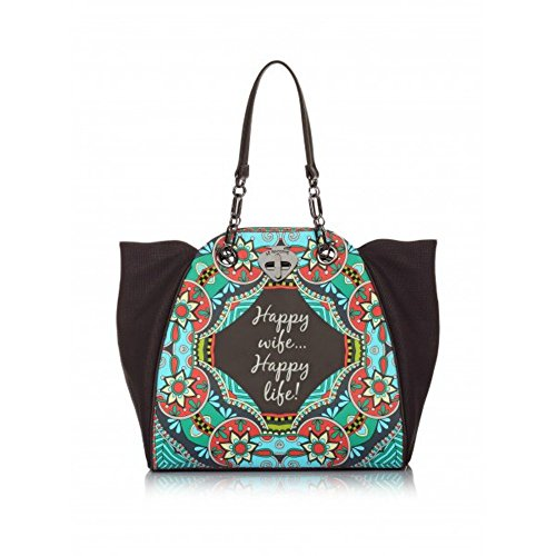 Borsa Shopping Le Pandorine | New Classic | Foulard Happy | P/E 2016 | PE16DAA01568-Dark Grey