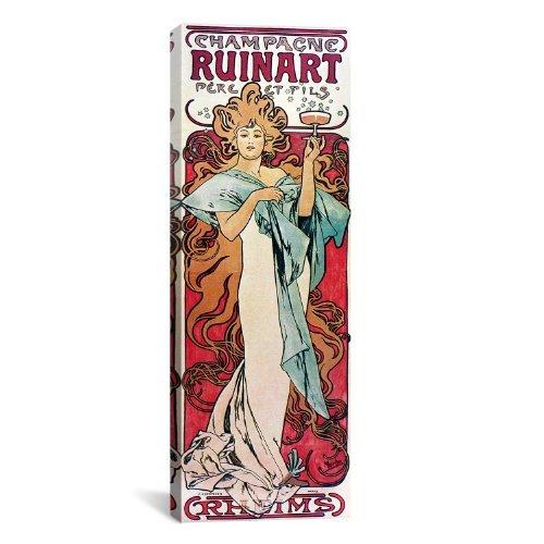 morewonders-fashion-design-champagne-ruinart-1896-by-alphonse-mucha-canvas-art-print-36-by-12-inch