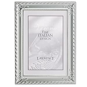 Lawrence Frames Silver Plated With Rose Corners 8x10 Picture Frame - Classic Design