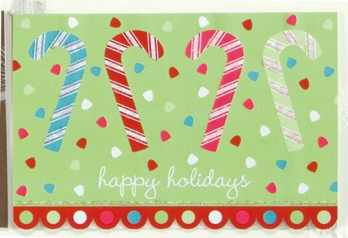 The Gift Wrap Company Happy Canes, Box of 15