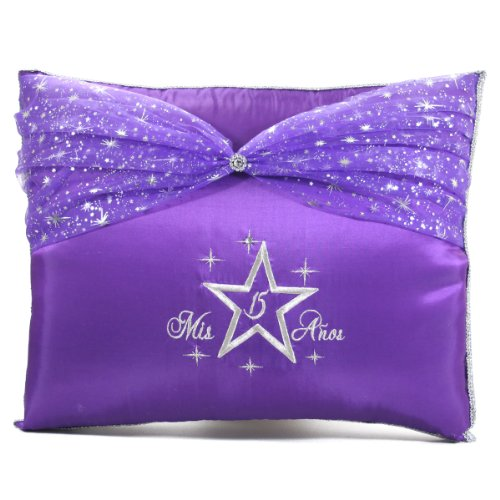Select Your Choice of Quinceanera Photo Album Guest Book Kneeling Tiara Pillow Bible Q3038 (Kneeling pillow)