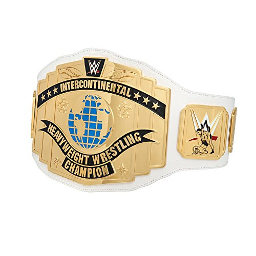 Official WWE Authentic Unisex WWE White Intercontinental Championship Replica Title Belt (2014) One size Multicoloured