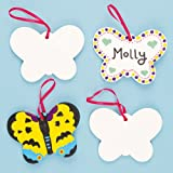 Butterfly Ceramic Decorations (Box of 5)