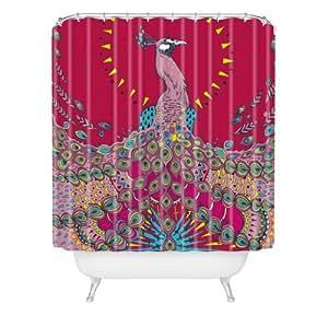 DENY Designs Geronimo Studio Red Peacock Shower Curtain