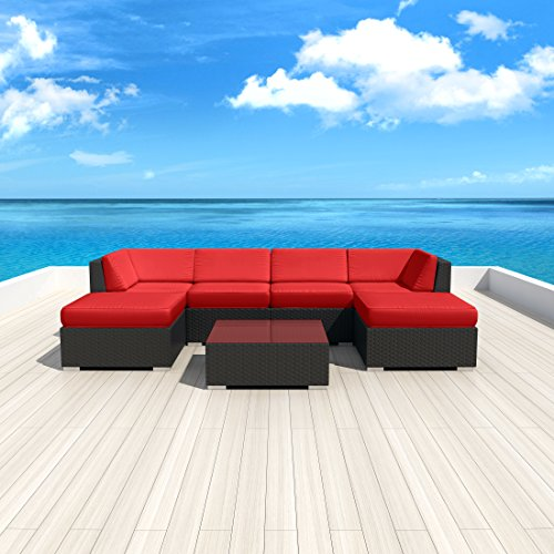 Luxxella-Patio-Mallina-Outdoor-Wicker-Furniture-7-Piece-All-Weather-Couch-Sofa-Set