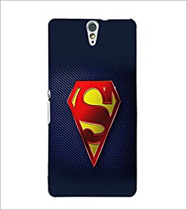 PrintDhaba Superman Logo D-2098 Back Case Cover for SONY XPERIA C5 ULTRA (Multi-Coloured)